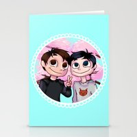 danisnotonfire Stationery Cards featuring Japhan  by BrimRun