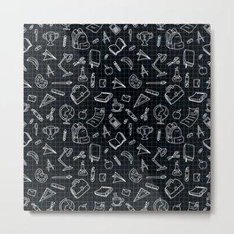 back to school pattern Metal Print