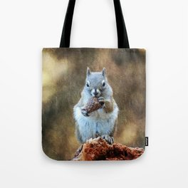 Squirrel with a Pine Cone Tote Bag