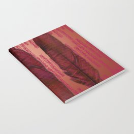 Traces of the Magpie on copper and dark rose Notebook
