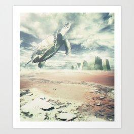 Into the sky Art Print
