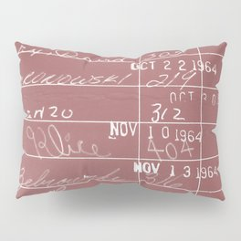 Library Card 23322 Negative Red Pillow Sham