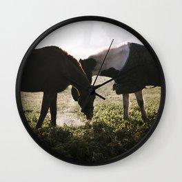 Misty horses Wall Clock