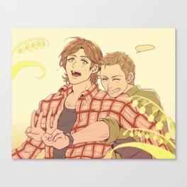 SUPERNATURAL SAM DEAN Canvas Print
