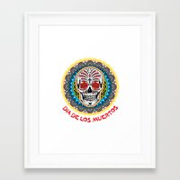 day of the dead Framed Art Prints featuring Day of the Dead by Gary Grayson
