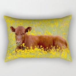 Baby Cow Rectangular Pillow