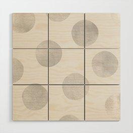 Silver Polka Dots Wood Wall Art