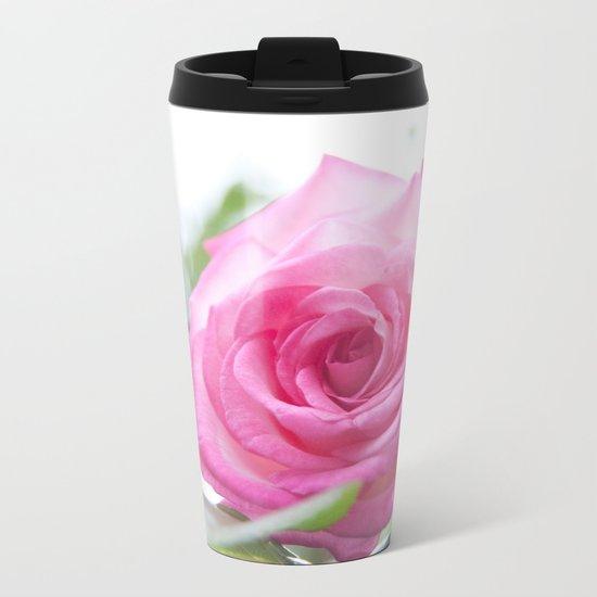 Pink rose #1 #decor #art #society6 Metal Travel Mug