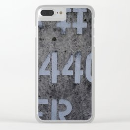 Industrial Tank Sign Clear iPhone Case