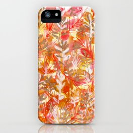 Leaves Texture 01 iPhone Case