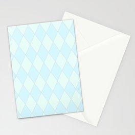 Blue Diamond Harlequin Stationery Cards