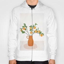 Orange Branches Hoody