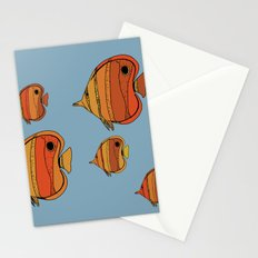Orange Butterfly Fish Stationery Cards
