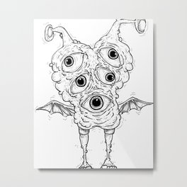 Eye Creature Metal Print