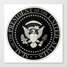 Presedent Seal Canvas Print