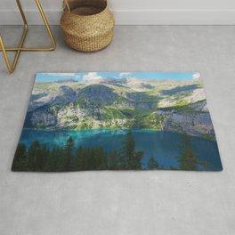 Lake Oeschinen, Switzerland, Bergsee Mountains Photographic Rug