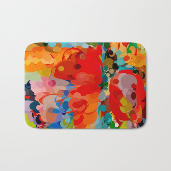 color bubble storm Bath Mat