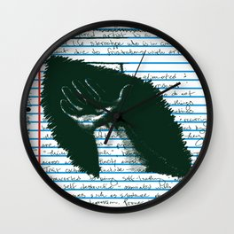 Loose Leaf Doodles: The Artist Wall Clock