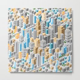 Isometric city Metal Print