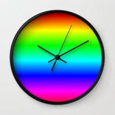 Ombre Rainbow Wall Clock
