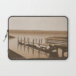 Pier on Cayuga Lake - Sepia Laptop Sleeve