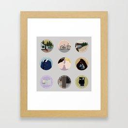 PHILKAS: A MINIMALIST LOVE STORY Framed Art Print