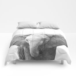 Black and White Baby Elephant Comforters