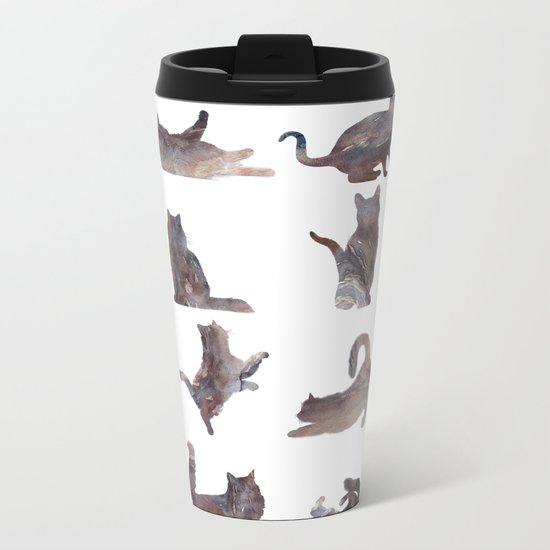 Cats Pattern Metal Travel Mug