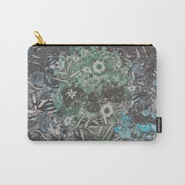 Floral Skull Flat Carry-All Pouch