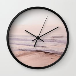 Dreamy Pink Pacific Beach Wall Clock