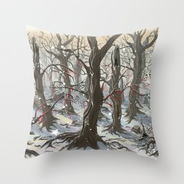 A Forest Throw Pillow