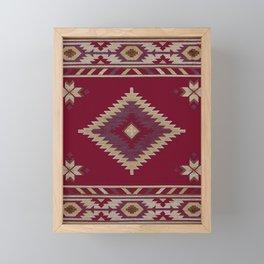 Moroccan traditional tapis Framed Mini Art Print