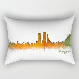 Bogota City Skyline Hq V2 Rectangular Pillow