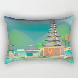 Bali, Indonesia - Skyline Illustration by Loose Petals Rectangular Pillow
