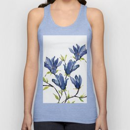 Blue Flowers 3 Unisex Tank Top