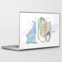 converse Laptop & iPad Skins featuring Converse Shoes by Jessica Feral