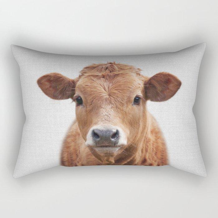 Cow 2 - Colorful Rectangular Pillow