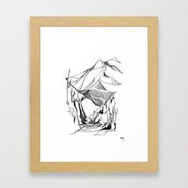 Mount Baker River Bends Framed Art Print