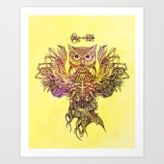 Botanical Owl Art Print