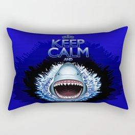 Keep Calm and...Shark Jaws Attack! Rectangular Pillow