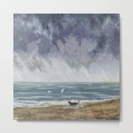 Doggy Days at the Seaside Metal Print
