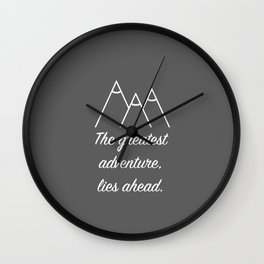Mountain Quote Wall Clock