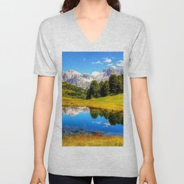mountain_landscape Unisex V-Neck