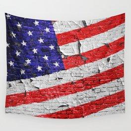 Vintage Patriotic American Flag Wall Tapestry