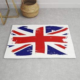 Union Jack British Flag With Grunge Rug