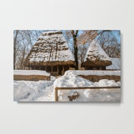 Idyllic winter postcard like from the old times Metal Print