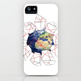 Wrapped to a Warped World iPhone Case