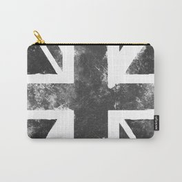 UK flag Grunge Black Carry-All Pouch