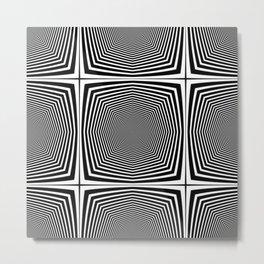 Black an White Hypnosis Metal Print