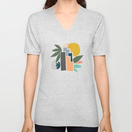 Sunrise City Unisex V-Neck
